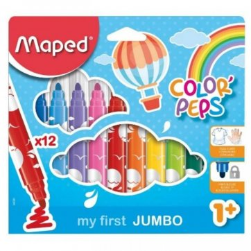 MAPED ΜΑΡΚΑΔΟΡΟΙ 12τεμ ΧΟΝΤΡΟΙ MY FIRST JUMBO COLOR PEPS 1+