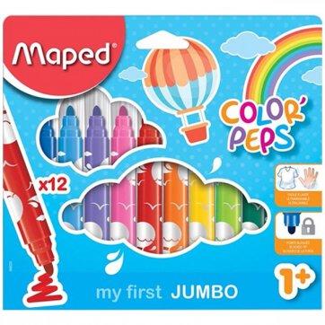 MAPED ΜΑΡΚΑΔΟΡΟΙ 12τεμ ΧΟΝΤΡΟΙ MY FIRST JUMBO COLOR PEPS 1+