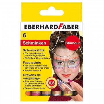 EBERHARD FABER ΧΡΩΜΑΤΑ ΠΡΟΣΩΠΟΥ ΜΟΛΥΒΙΑ GLAMOUR 6 ΧΡΩΜΑΤΩΝ EBERHARD FABER