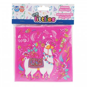 THE LITTLIES ΧΑΡΤΟΠΕΤΣΕΤΕΣ 33*33ΕΚ 20ΤΕΜ LITTLES LHAMA 0646620