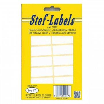 STEF - LABELS  ΕΤΙΚΕΤΕΣ ΑΥΤΟΚΟΛΛΗΤΕΣ STEF 40Φ. No17 48X18mm