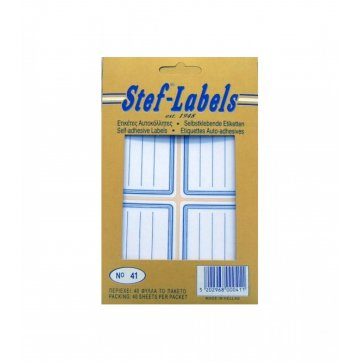 STEF - LABELS  ΕΤΙΚΕΤΕΣ ΑΥΤΟΚΟΛΛΗΤΕΣ STEF 40Φ. No41 50x72mm