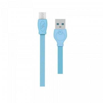 WK DESIGN  ΚΑΛΩΔΙΟ ΦΟΡΤΣΗΣ WK USB TO LIGHTNING 2m ΜΠΛΕ (WDC-023)