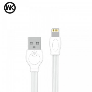 WK DESIGN   ΚΑΛΩΔΙΟ ΦΟΡΤΣΗΣ WK USB TO LIGHTNING 2m ΛΕΥΚΟ WDC-023