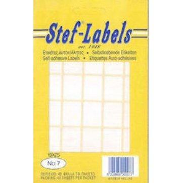 STEF - LABELS  ΕΤΙΚΕΤΕΣ ΑΥΤΟΚΟΛΛΗΤΕΣ STEF 40Φ. No8 19X32mm