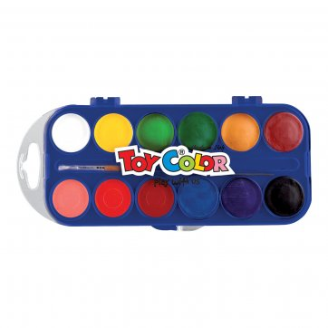 TOYCOLOR ΝΕΡΟΧΡΩΜΑΤΑ TOY COLOR 12τεμ