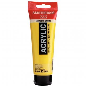 AMSTERDAM ΑΚΡΥΛΙΚΟ ΧΡΩΜΑ AMSTERDAM 120ML 268 AZO YELLOW LIGHT