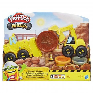 HASBRO	 PLAY-DOH WHELLS DRIVE AND DREDGE EXCAVATOR