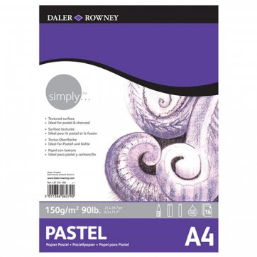 DALER ROWNEY SIMPLY A4 DRAWING PASTEL PAD 16SH/150GSM