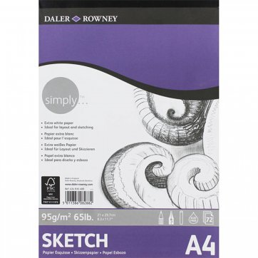DALER ROWNEY SIMPLY A4 SCETCH PAD 72SH