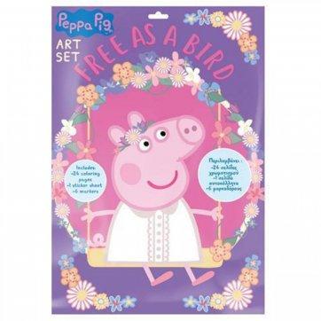 ΔΙΑΚΑΚΗΣ ΠΡΟΣΧΕΔΙΑΣΜΕΝΕΣ ΣΕΛΙΔΕΣ ΧΡΩΜΑΤΙΣΜΟΥ - ART SET PEPPA PIG 482523
