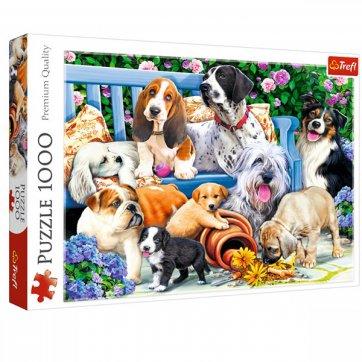 Trefl ΠΑΖΛ DOGS IN THE GARDEN 1000ΤΕΜ TREFL