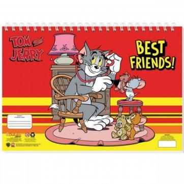 ΔΙΑΚΑΚΗΣ ΜΠΛΟΚ ΖΩΓΡΑΦΙΚΗΣ 40Φ TOM & JERRY BEST FRIENDS ΚΟΚΚΙΝΟ 0510968