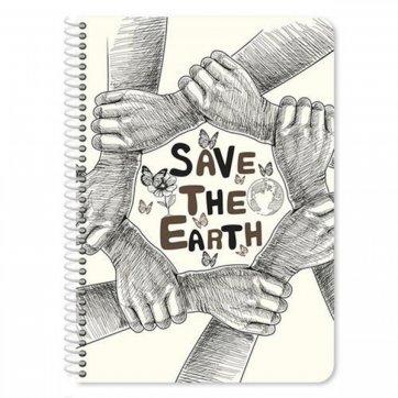 """ΔΙΑΚΑΚΗΣ ΤΕΤΡΑΔΙΟ ΣΠΙΡΑΛ 17Χ25 4Θ 120Φ EARTH HOME """"SAVE THE EARTH"""" 042111"""