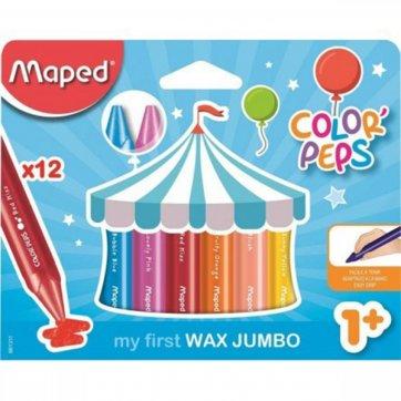 MAPED ΚΗΡΟΜΠΟΓΙΕΣ 12 ΧΡΩΜΑΤΩΝ COLOR'PEPS MY FIRST WAX JUMBO MAPED 861311