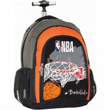BACK ME UP ΤΣΑΝΤΑ TROLLEY BACK ΜΕ UP NBA RED BASKET 338-41074