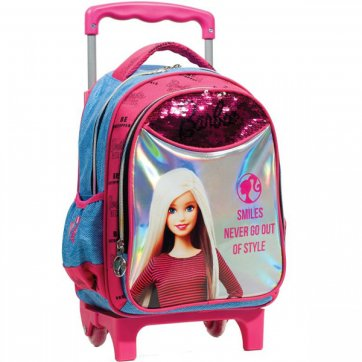 GIM ΤΣΑΝΤΑ ΝΗΠΙΟΥ GIM TROLLEY BARBIE DENIM FASHION 349-66072
