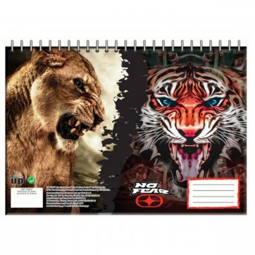 NO FEAR ΜΠΛΟΚ ΖΩΓΡΑΦΙΚΗΣ 30Φ DESERT LION-INDIAN TIGER 347-72417