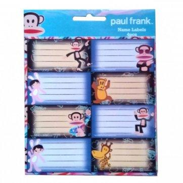 PAUL FRANK ΕΤΙΚΕΤΕΣ ΟΝΟΜΑΤΩΝ 4 ΤΕΜΑΧΙΑ PAUL - FRANK 775-28046