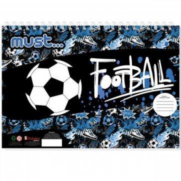 MUST ΜΠΛΟΚ ΖΩΓΡΑΦΙΚΗΣ 40Φ FOOTBALL 0579899