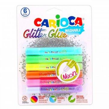 CARIOCA ΚΟΛΛΑ GLITTER GLUE NEON 6 ΧΡΩΜΑΤΑ ΣΕ BLISTER CARIOCA 42111