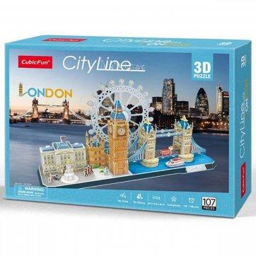 CubicFun ΠΑΖΛ - 3D CITYLINE LONDON 107ΤΕΜ MC253h