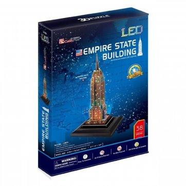 CubicFun ΠΑΖΛ - 3D LED EMPIRE STATE BUILDING L503h