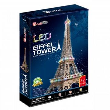 CubicFun ΠΑΖΛ - 3D LED EIFFEL TOWER PARIS 82ΤΕΜ L091h