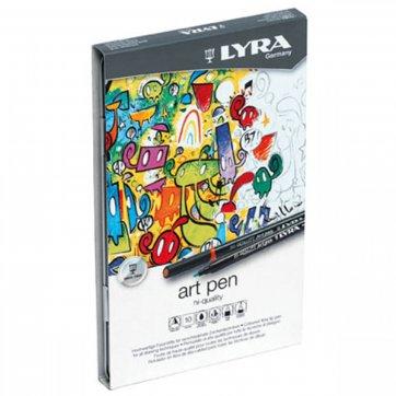 LYRA ΜΑΡΚΑΔΟΡΟΙ HI - QUALITY ART PEN 10ΤΕΜ. LYRA  6751100