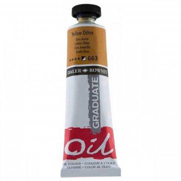 DALER ROWNEY DALER ROWNEY GRADUATE OIL 38ML YELLOW OCHRE 663