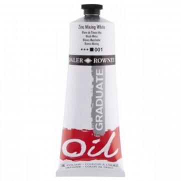 DALER ROWNEY DALER ROWNEY GRADUATE OIL 38ML ZINC MIX WHITE 001