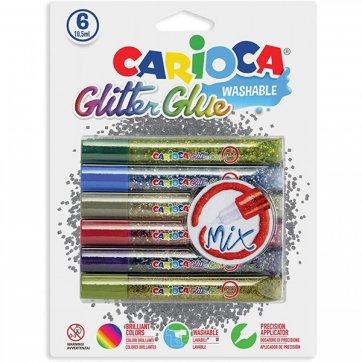 CARIOCA ΚΟΛΛΑ GLITTER MIX 6 ΧΡΩΜΑΤΑ ΣΕ BLISTER CARIOCA 42112