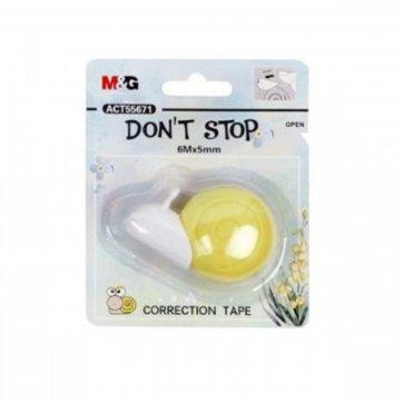 M&G ΔΙΟΡΘΩΤΙΚΗ ΤΑΙΝΙΑ DON'T STOP 5mmx6m M&G 55671 ΚΙΤΡΙΝΟ