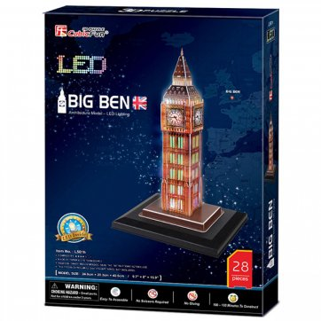 CubicFun ΠΑΖΛ - 3D LED BIG BEN 28ΤΕΜ L501h