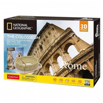 CubicFun ΠΑΖΛ - 3D ΠΑΖΛ NATIONAL GEOGRAPHIC THE COLOSSEUM 131ΤΕΜ DS0976h