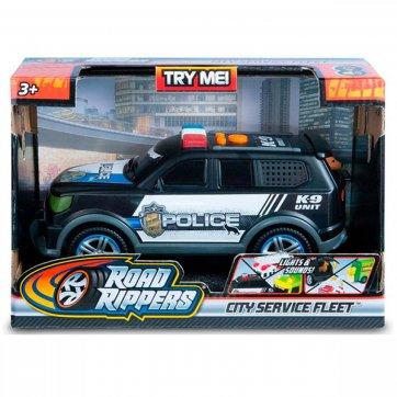 "NIKKO ROAD RIPPERS - RUSH & RESCUE - (8""/20CM) POLICE SUV 36/20021 ΜΑΥΡΟ"