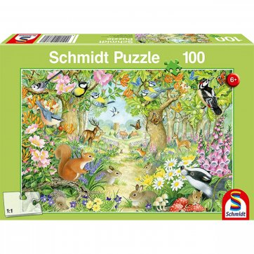 SCHMIDT ΠΑΖΛ - ANIMALS IN THE FOREST 100ΤΕΜ 56370