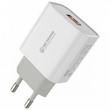 WK DESIGN ΦΟΡΤΙΣΤΗΣ ΚΙΝΗΤΟΥ WK USB-A WALL ADAPTER ΛΕΥΚΟ (WP-U57)