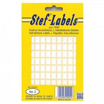 STEF - LABELS  ΕΤΙΚΕΤΕΣ ΑΥΤΟΚΟΛΛΗΤΕΣ STEF 40Φ. No2 8X12mm