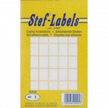 STEF - LABELS  ΕΤΙΚΕΤΕΣ ΑΥΤΟΚΟΛΛΗΤΕΣ STEF 40Φ. No5 15X20mm