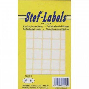 STEF - LABELS  ΕΤΙΚΕΤΕΣ ΑΥΤΟΚΟΛΛΗΤΕΣ STEF 40Φ. No6 17X20mm