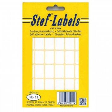 STEF - LABELS  ΕΤΙΚΕΤΕΣ ΑΥΤΟΚΟΛΛΗΤΕΣ STEF 40Φ. No11 16X24mm