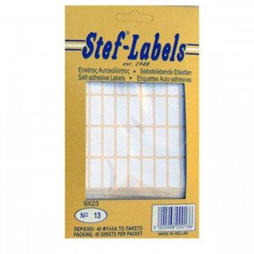 STEF - LABELS  ΕΤΙΚΕΤΕΣ ΑΥΤΟΚΟΛΛΗΤΕΣ STEF 40Φ. No13 9X23mm