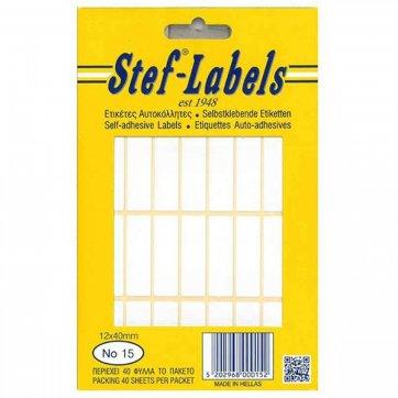 STEF - LABELS  ΕΤΙΚΕΤΕΣ ΑΥΤΟΚΟΛΛΗΤΕΣ STEF 40Φ. No15 12X40mm