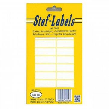 STEF - LABELS  ΕΤΙΚΕΤΕΣ ΑΥΤΟΚΟΛΛΗΤΕΣ STEF 40Φ. No18 48X13mm