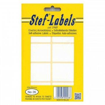 STEF - LABELS  ΕΤΙΚΕΤΕΣ ΑΥΤΟΚΟΛΛΗΤΕΣ STEF 40Φ. No26 50X35mm