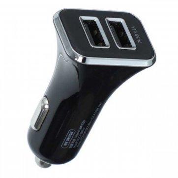 WK DESIGN ΦΟΡΤΙΣΤΗΣ ΑΥΤΟΚΙΝΗΤΟΥ WK DUAL USB 3.1A & QC3.0 ΜΑΥΡΟ WP-C19