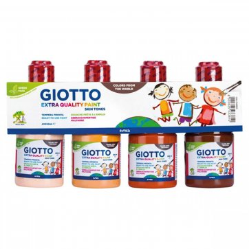 GIOTTO ΣΕΤ ΤΕΜΠΕΡΑ 4x250ml SKIN TONES GIOTTO EXTRA QUALITY PAINT