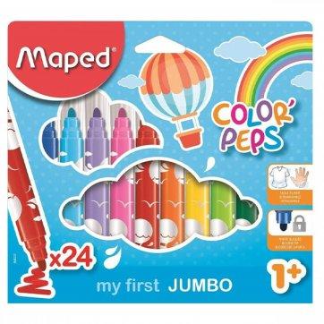MAPED ΜΑΡΚΑΔΟΡΟΙ 24τεμ ΧΟΝΤΡΟΙ MY FIRST JUMBO COLOR PEPS 1+
