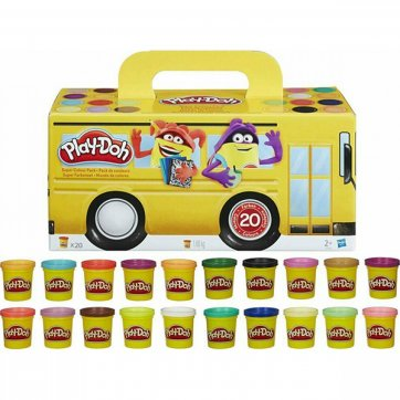 HASBRO ΠΛΑΣΤΟΖΥΜΑΡΑΚΙΑ PLAY-DOH SUPER COLOR PACK 20τεμ HASBRO A7924